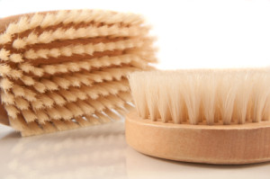Dry brushing your skin can help with exfoliation and facilitate more effective cleansing.